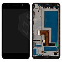 Дисплей + touchscreen (сенсор) для Huawei Honor 6 H60-L02, с передней рамкой, черный, оригинал