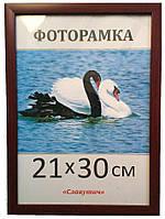 Фоторамка,пластиковая,А4,21х30, рамка,для фото, дипломов,сертификатов,грамот, вышивок 1611-84