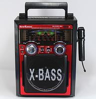 Музыкальный центр Караоке (радио) 3 в 1 ретро NewKanon KN-61-REC-R USB/МР3 с пультом