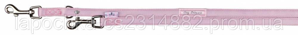 Trixie Поводок-перестежка для собак Softline Dog Princess, розовый, 2м/15мм