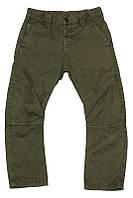 Низ деми брюки штаны на ризинке, зауженные с прострочкой на коленях мал. зелёный 100% котон 123BFBH007 BRUMS,