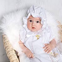 Детский капор Славянский от Miminobaby белый 36-40см