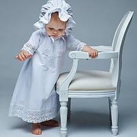 Детский капор Славянский от Miminobaby белый 44-48см