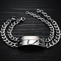 """Парные браслеты для влюбленных """"Половинки сердец"""", фото 1"""