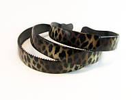 Обруч для волос пластик леопардовый -12 шт.- ширина 2,5 см. * Ø 12,0 см., фото 1