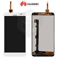 Дисплейный модуль (дисплей + сенсор) для Huawei Honor 3X G750, белый, оригинал