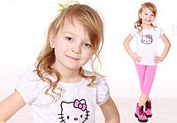 "Футболка для девочки ""Hello Kitty""(4 цвета, р.74-128)"