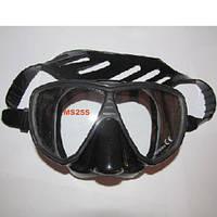 Маска для дайвинга и подводной охоты MS255 (чёрный силикон)