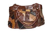 Женская сумочка кожаная из кусочков Tongle B-033