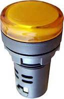 Светосигнальная арматура AD22-22DS желтая 24V AC/DC