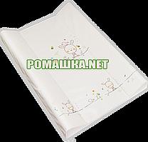 Пеленальный матрасик (пеленатор, пеленальная доска), 70х50 см, TM Ceba baby Зайчик Бежевый