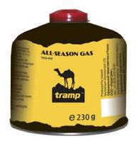 Баллон газовый резьбовой туристический 230 г Tramp TRG-003