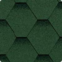 Гибкая (мягкая) битумная черепица Shinglas (Шинглас) Кадриль Зеленая