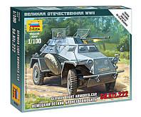 Сборная модель (1:100) Немецкий легкий бронеавтомобиль Sd.Kfz 222