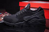 Кроссовки женские Nike Huarache All Black Suede (найк, оригинал) черные