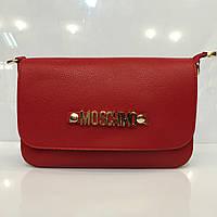 Женская сумка клатч Moschino 436 красная копия