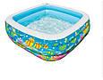 Детский надувной бассейн «Аквариум» Intex 57471 (159*159*50 см) 2 вида, фото 2