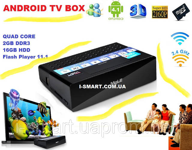 MELE 2013г Quad Core Android Box TV ddr3- 2GB hdd- 16GB HDMI USB LAN Optic +пульт