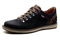 Туфли спортивные мужские Bumer, синие, кожа, фото 1