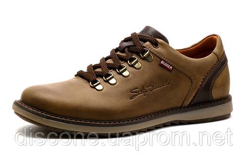 Туфли спортивные мужские Bumer, оливковые, кожа