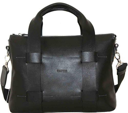 Классическая мужская сумка из натуральной кожи VATTO MK22Kaz1, черный