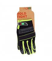 Перчатки Green Cycle NC-2373-2014 MTB с закрытыми пальцами XL черно-зеленые