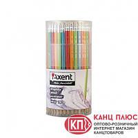 Axent Карандаш чернографитный с резинкой HB 100шт в тубе арт.9001A