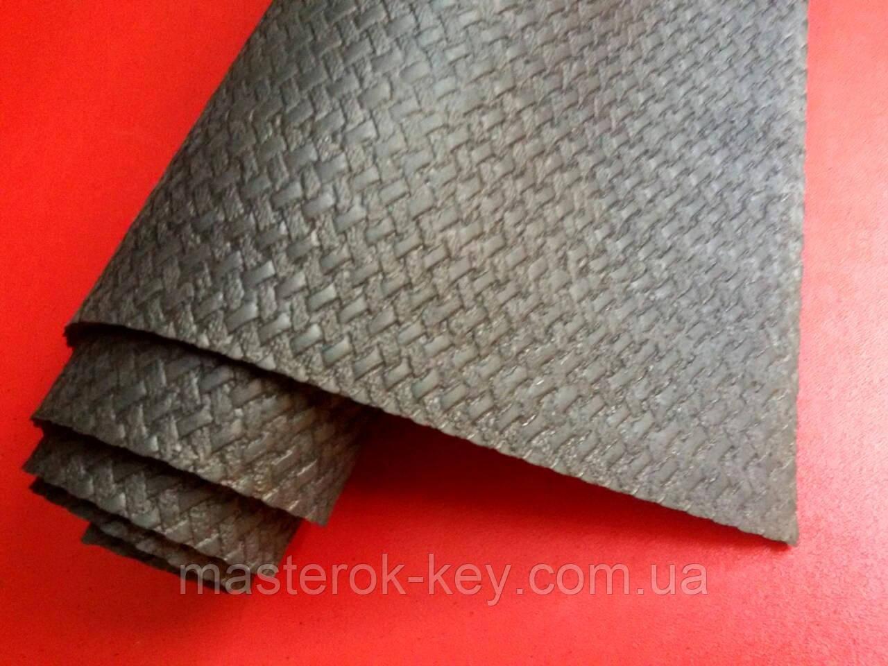 Профилактика листовая КОСИЧКА зашкуренная  Украина 500х630х3 мм цвет чёрный