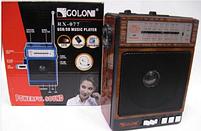 Радиоприемник Golon RX-078, колонка mp3 проигрыватель, фото 5