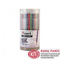 Axent Карандаш трехгранный чернографитный с резинкой HB 100шт в тубе арт.9003