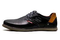 Туфли спортивные мужские Clarks Desert Urban, кожаные, черные, р. 40
