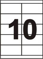 Самоклеящаяся бумага Sapro, 70 г/м2.,белая, A4/10 (105x57), 100 л