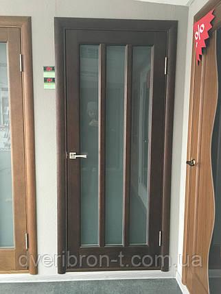 Двери Белоруссии Троя ПОО тёмный орех, фото 2