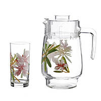 Набор для напитков Luminarc Кувшин с стаканами (Freesia)