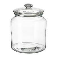 "IKEA ""ВАРДАГЕН"" Банка с крышкой, прозрачное стекло, 1.9 л"