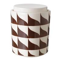 """IKEA """"ТИЛЛФЭЛЛЕ"""" Емкость с крышкой, белый/коричневый"""