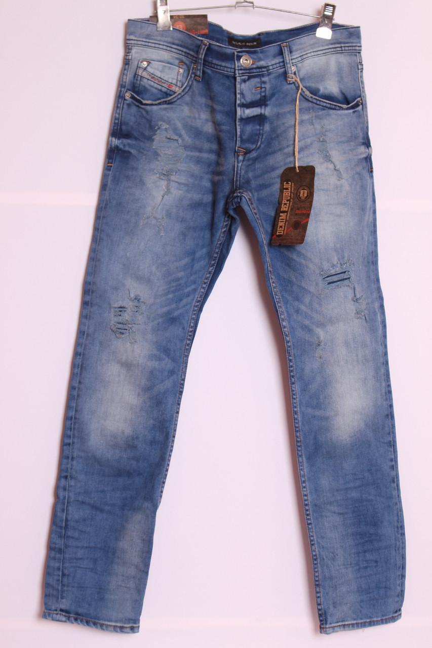 Мужские стильные рваные джинсы Denim Republic турция