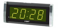 Настольные электронные LED часы, календарь,  будильник VST CX 730-2