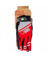 Перчатки Green Cycle NC-2378-2014 MTB с закрытыми пальцами M красно-серые