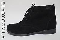 Ботиночки черные женские из натуральной замши, фото 1