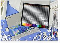 Карандаши цветные Марко (Marco Raffine) 24 цвета в металлическом пенале