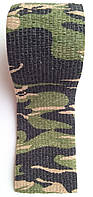 Самоклеящаяся эластичная камуфлированная лента многократного пользования Mil-Tec Camo (камуфляж) 4,5 м
