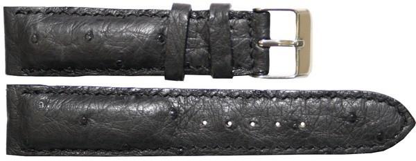 Ремешок для часов из кожи Страуса 3700. OSWS 01 Black