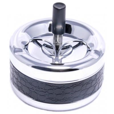Пепельница 02140 (40051) металл/хром/глянец, д=13 см