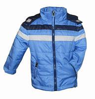 Голубая демисезонная куртка для мальчика 74 размер
