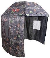 Рыболовный палаточный зонт камуфляжного цвета Carp Zoom Umbrella Shelter camou 250 см (CZ5975)