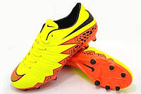 Футбольные бутсы Nike Hypervenom Phelon II FG Yellow/Black/Orange, фото 1