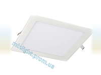 Светодиодный светильник квадрат 18W Plastic 4000K