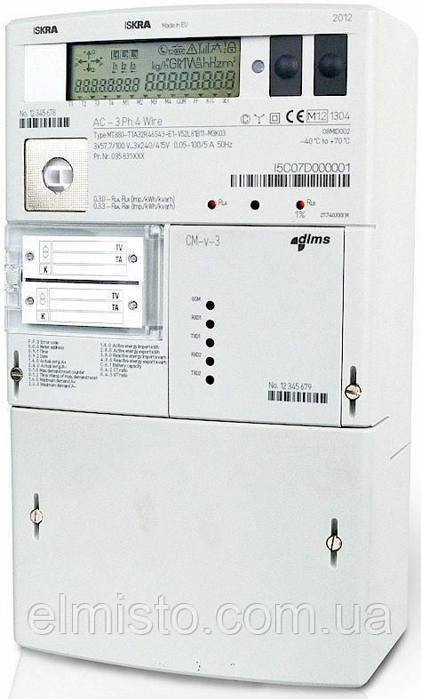Электросчетчик ISKRA MT880-T1-M DLMS 1-5(10)А  3*57,7/100В  1.0/2.0 / ТС і/або ТН/імп.вих.,RS485,змінні модулі - ЭлМисто, предприятие в Харькове