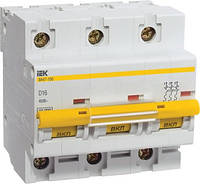 Автоматический выключатель ВА47-100 3P 10 А х-ка D, IEK